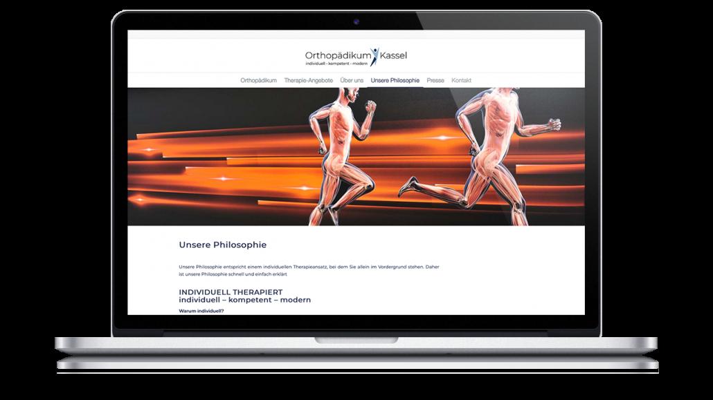 Webseite Orthopädikum Kassel