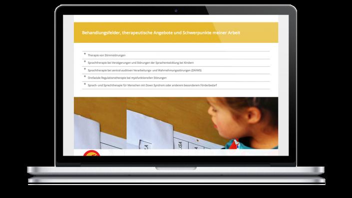 Webdesign Logopädie